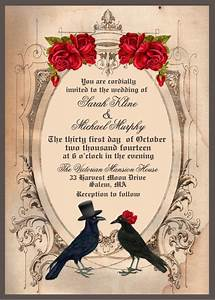 22 halloween wedding invitation templates free sample for Blank halloween wedding invitations