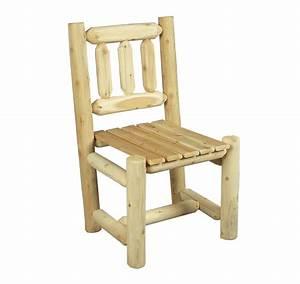 Chaise En Bois Blanc : chaise en bois rondins de c dre blanc c dre rondins ~ Teatrodelosmanantiales.com Idées de Décoration