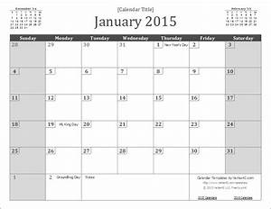2015 calendar templates and images With 2015 monthly calendar template for word