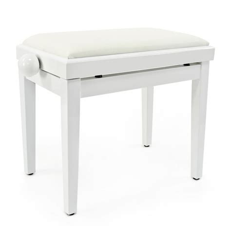 tabouret de piano r 233 glable par gear4music blanc comme neuf 224 gear4music