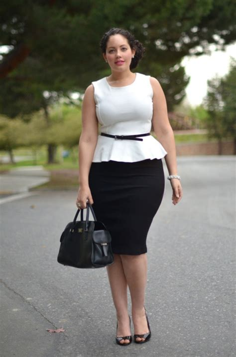 comment s habiller au bureau femme look by amina allam et ronde