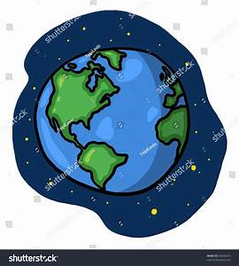 Earth Illustration World Space Drawing Planet Stock ...