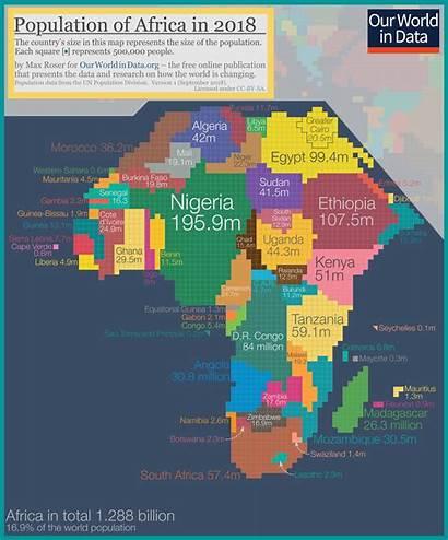 Population Map Density Cartogram Africa Country Global