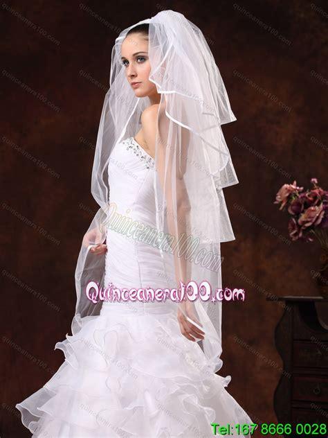 Beautiful Four Tier Organza Wedding Veil Quinceanera 100