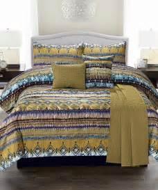 blue morocco comforter set