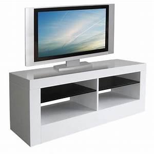Meuble Tele Haut : meuble tv haut blanc ~ Teatrodelosmanantiales.com Idées de Décoration
