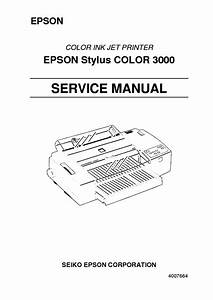 Epson Stylus Color 3000 Service Manual Service Manual