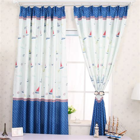 Custom Baby Blue Boys Nautical Curtains