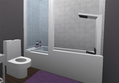 aesthetic bathroom bloxburg small