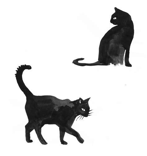 cute black cat drawing cats wallpaper hd drawings