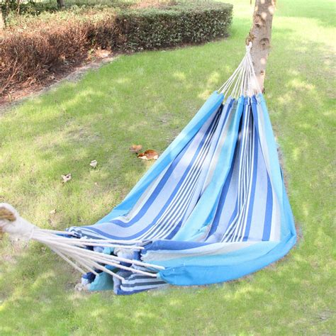 Suspended Hammock Bed by Adeco Cotton Fabric Canvas Hammock Bed Tree Hanging