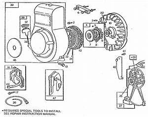 Rewind Starter And Magneto Diagram  U0026 Parts List For Model