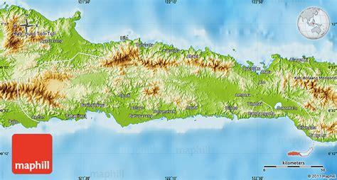 physical map  kab gorontalo
