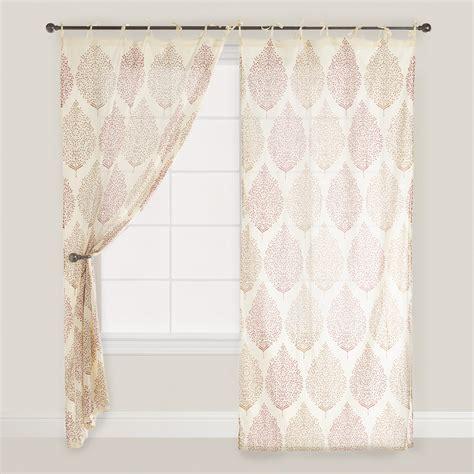 world market curtains rust kashvi patterned crinkle voile curtain world market