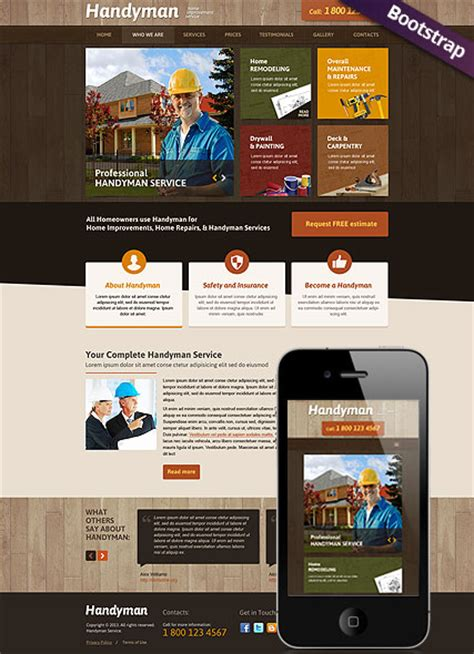 handyman service html website template  website