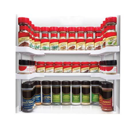 Shelf Spice Rack by Spicy Shelf Patented Spice Rack And Stackable Organizer Ebay