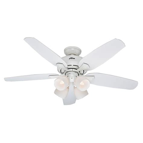 hunter channing ceiling fan hunter channing 52 in indoor white ceiling fan with light