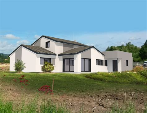 maison contemporaine 224 ossature bois nos projets maison 2 pans