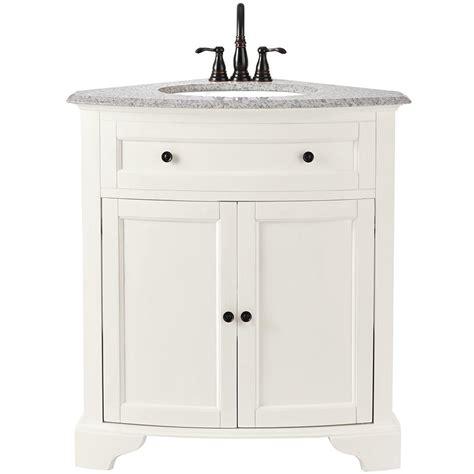 corner vanity top sink home decorators collection hamilton 31 in vanity in grey