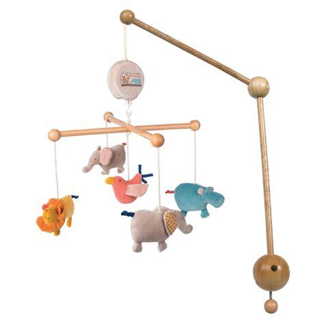 mobile bebe musical les papoum de moulin roty sur allobebe