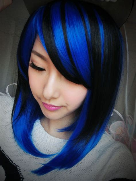 Light Blue And Black Hair How To Dye Bdark Blue Hairb39