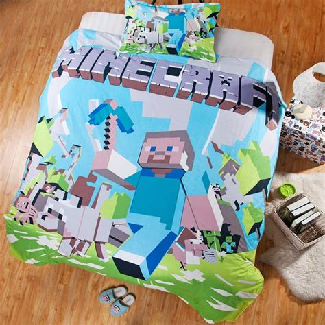 minecraft bedding set 20 best home textiles i found images on
