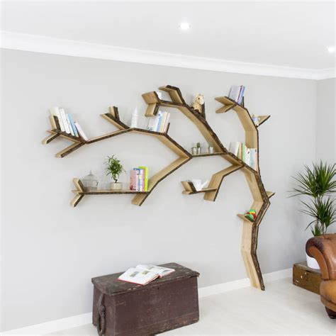 tree bookshelves windswept oak tree bookcase shelf by bespoak interiors notonthehighstreet com