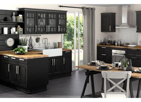 cuisine bois et noir cuisine noir et blanc et bois chaios com