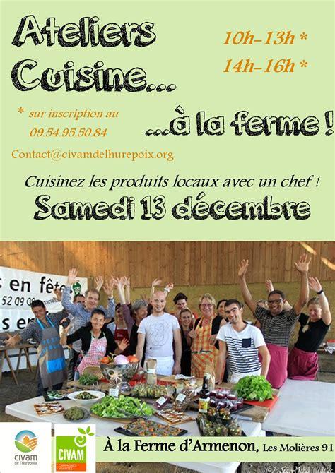 affiche atelier cuisine affiche ateliers cuisine