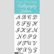 Free Printable Calligraphy Letters  The Group Board On Pinterest  Alphabet Stencils