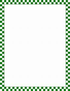 Printable green and white checkered border. Free GIF, JPG ...