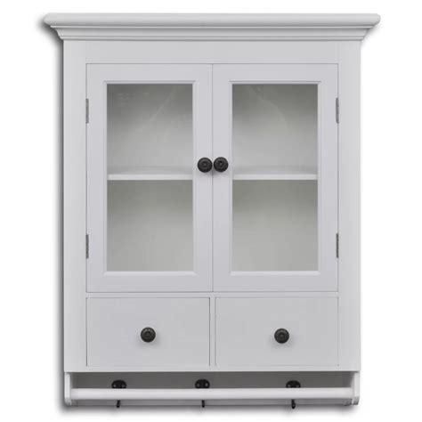 white wooden kitchen wall cabinet  glass door vidaxl