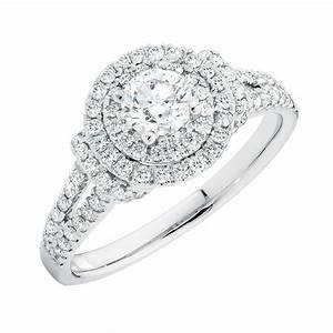 engagement ring with 1 carat tw of diamonds in 14kt white gold With wedding ring with diamond