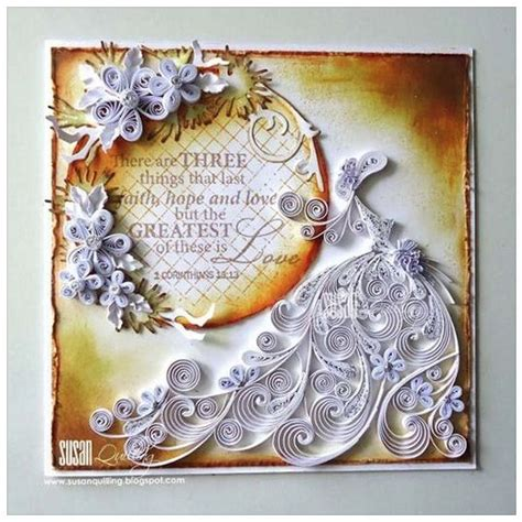 quilled wedding anniversary card  susan quilling fb