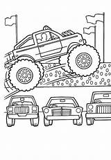 Coloring Monster Truck Pages Cars Colouring Lamborghini Jump Few Amazing Transportation sketch template