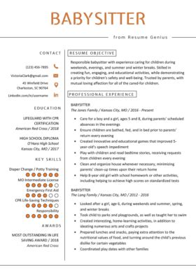 How To Write A Nanny Resume by Nanny Resume Exle Writing Tips Resume Genius