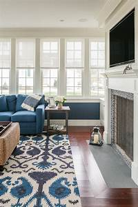 Bright ikat rug in Living Room Traditional with Ikat Rug