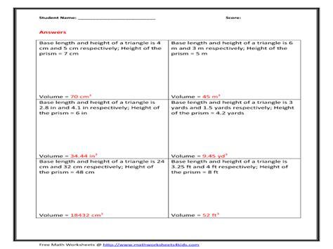 volume of rectangular prism worksheet word problems