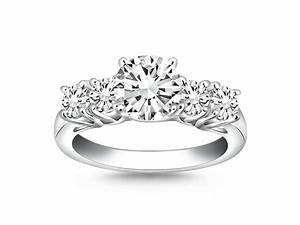 five stone diamond trellis engagement ring mounting in 14k With five stone wedding rings
