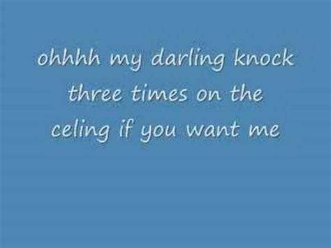Knock Three Times On The Ceiling by Knock Three Times The Archies Vagalume