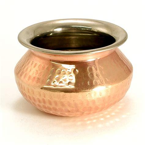 indian hammered copper punjabi handi ancient cookware