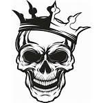 Crown Skull Vector Emblem Clip Tattoo Drawing