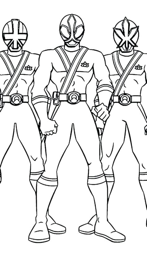 Power Ranger Coloring Pages Printable Free Coloring Page