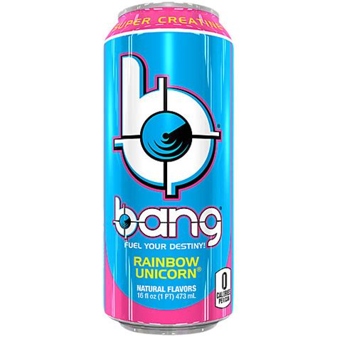 Bang Energy Drink With Coq Creatine Rainbow Unicorn