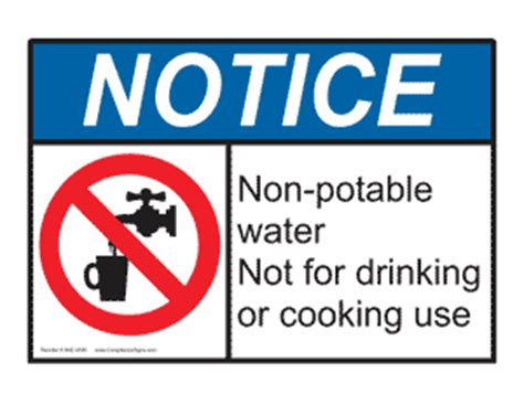 Notice (osha) Nonpotable Water Not For Drinking Or. Printable Coupon Websites. Flat Logo. 25th Anniversary Banners. Inspiration Murals. Mortgage Banners. Cat Lettering. Baymax Stickers. Penyakit Signs