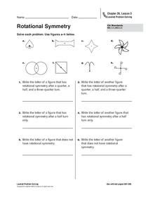 rotational symmetry worksheet    grade lesson