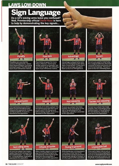 referee hand signals scarlet fever scarlets rugby forum llanelli