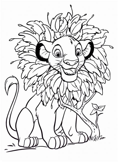 Coloring Pages by Free Printable Simba Coloring Pages For