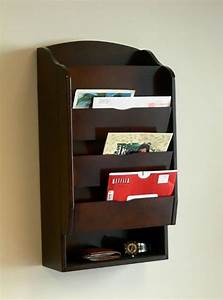 new mail organizer holder letter key wall rack mount With wall letter organizer rack