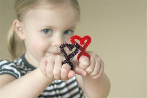 heart shaped pipe cleaner rings   takes